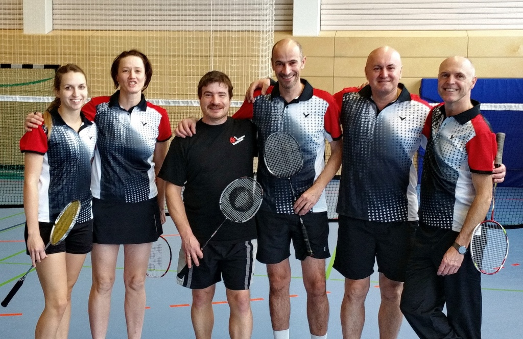 Elena, Barbara, Michael, Gugi, Thomas und Hans-Jörg in Sinzheim
